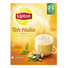 12 sticks lipton milk tea teh tarik halia tea 21g
