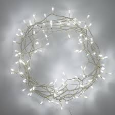 indoor lights with 100 white leds on 8m of clear cable by