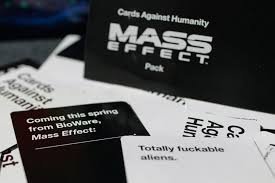 cards against humanity reject pack hot and heavy mass effect pack comes to cards against humanity