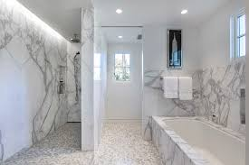 Wainscoting Bathroom Vanity Marble Wainscoting Bathroom Contemporary With Gray Mosaic Tile
