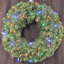 battery operated wreath of christmas pre lit battery operated led sequoia wreath