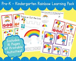 r for rainbow printable preschool pack u for umbrella