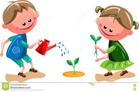 gardening kids stock vector image 80635665