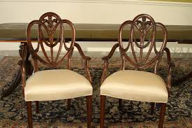 mahogany sweet heart shield back dining chairs