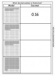 decimal u2013 model u2013 hundredths u2013 4 worksheets free printable
