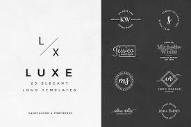 design logo elegant luxe 25 elegant logo templates logo templates creative market