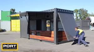 20ft shipping container cafe youtube