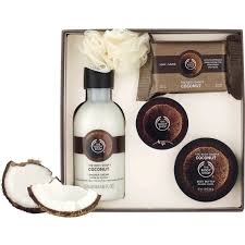 bath and gift sets the shop coconut essential collections bath and gift set