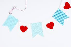 valentines banner sweet heart stitched s banner