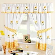 stylish red and yellow kitchen curtains ideas with curtains yellow