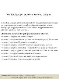 polygraph examiner cover letter