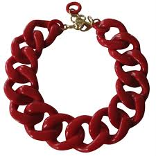 red chain necklace images Red chain link necklace images jpg