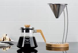 osaka pour coffee dripper with wood stand tools and toys