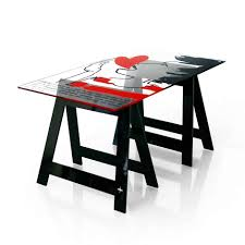 plateau verre bureau plateau de bureau en verre ikea plaque de verre pour bureau