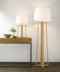 wood floor standing lamp for living room reading floor lamp