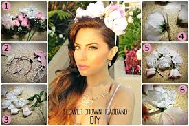 flower headbands diy diy tutorial diy wedding easy flower crown headband diy bead cord