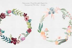 flower wreath watercolor floral wreaths vol 1 illustrations creative market