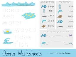 ocean themed printable worksheets for preschoolers from http