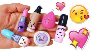 diy emoji makeup polymer clay tutorial