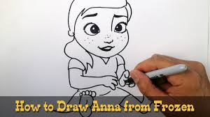 draw young anna frozen video lesson