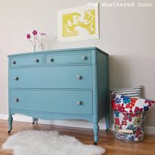 Painting Black Furniture White by A Bayside Dresser With Black And White Knobs The Weathered Door