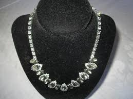 necklace vintage jewelry images Beautiful silver tone and rhinestone necklace rhodium plated with jpg