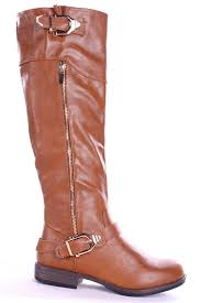 womens boots zip up chestnut boots faux leather boots zip up boots knee high boots