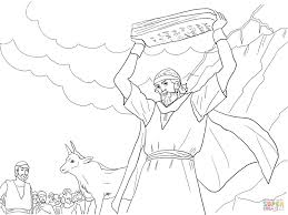 moses breaking the tablets of law coloring page free printable