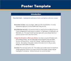 sample power point poster templates u2013 4 free documents download