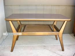 vintage mid century modern coffee table vintage danish mid century modern coffee table w cane shelf post