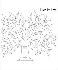 14 best images of free printable family tree template for