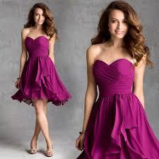 purple bridesmaid dresses 50 vestido de festa 2015 sweetheart strapless length purple