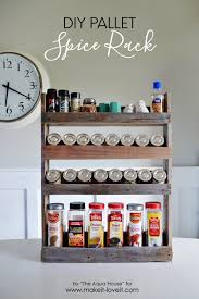 Over The Cabinet Spice Rack Diy Pallet Spice Rack Make It And Love It