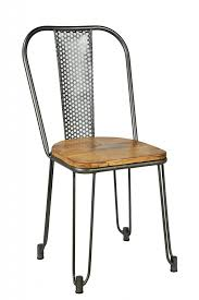 chaise m tal industriel chaise bois metal chaise deisgn m tal et bois imprim mango