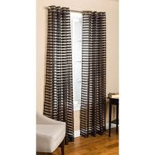 Brown And White Striped Curtains Home Decoration Captivating Black Horizontal Striped Grommet