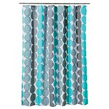 Turquoise Shower Curtains Room Essentials Circle Shower Curtain Turquoise Gray