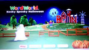 wordworld kooky spooky halloween youtube
