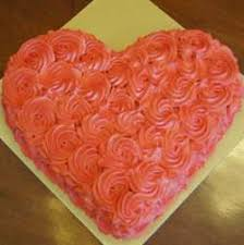 How To Decorate Heart Shaped Cake Heart Shape Pink Icing Cake Eggless Send Online Heart Shape Pink