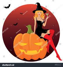 trick treat illustration seductive halloween stock vector