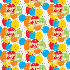 yellow wrapping paper glitzy balloon happy birthday gift wrapping paper birthday party