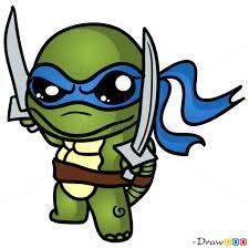 ideas draw cartoon turtle draw ninja turtle chibi