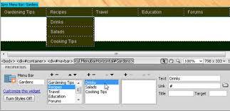 cara membuat menu dropdown keren edit a drop down menu in dreamweaver spry