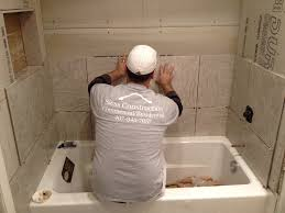 bathroom splendid installing fiberglass tub mortar 150 bathtub