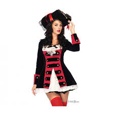 pirate captain costume for women with short costume dress