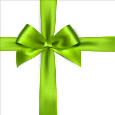 green ribbon bows vector vector ribbon free