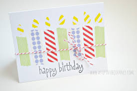 diy birthday card using washi tape