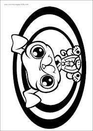littlest pet shop color coloring pages kids cartoon