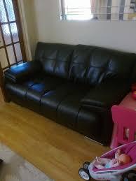 Scs Laminate Flooring Scs Endurance Sofas 3 Seater And 2 Seater Black In Royton