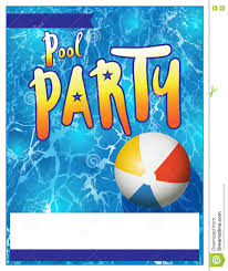 pool party invitations free pool party flyer invitation illustration stock vector image