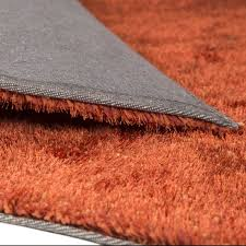 grande plaza stubby piled carpet runner in terracotta orange